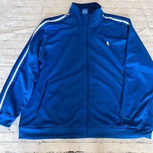 adidas Men's Blue 3 Stripes Trefoil Track Jacket3X